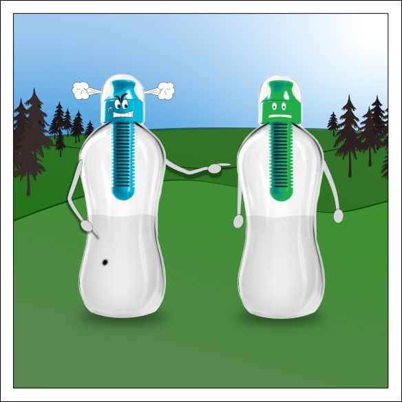 water bottle characters